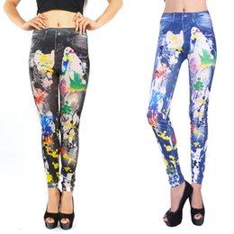 $enCountryForm.capitalKeyWord Australia - 0004 graffiti pattern foreign trade printing jeans seamless leggings factory direct kids designer clothes girls