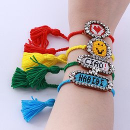 $enCountryForm.capitalKeyWord NZ - Handmade Colorful New Bohemian Design Boho Weave Beaded Tassel Crystal Magnetic Bracelets For Women Jewelry 356 C190420