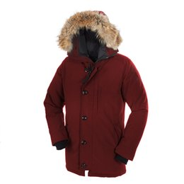 $enCountryForm.capitalKeyWord Australia - Fashion Classic Style Canada Down Jacket for Men New Coyote Fur Middle Style Coat Winter Warm Goose Borden-Bomber Men Parka Chateau Parka