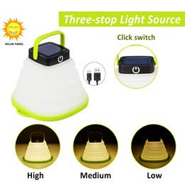 $enCountryForm.capitalKeyWord Australia - Portable Camping Light Solar Powered Lantern LED Mini Hanging Flashlight For Tent Lamp Solar USB input Collapsible Waterproof