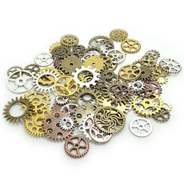 pendants grams Australia - 100 Gram Alloy DIY Parts Durable Clock Crafts Mix Styles Jewelry Accessories Steampunk Gears Assorted Pendant Wheels