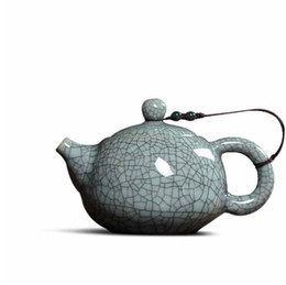 glaze ceramics UK - Chinese office small teapot ice cracked glaze single pot purple sand ceramic Kung Fu tea pot filter home drink 140ML