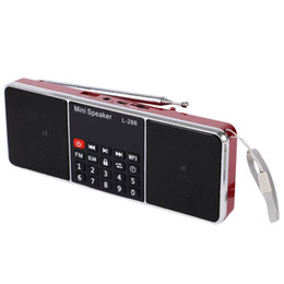 $enCountryForm.capitalKeyWord Australia - Mini Portable Rechargeable Stereo L-288 FM Radio Speaker LCD Screen Support TF Card USB Disk MP3 Music Player Loudspeaker