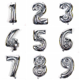 number balloons for Canada - 40 inch Free combination number foil mylar helium balloon Colorful foil helium number balloon for wedding decorations Event party supplies