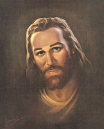 christ paintings UK - Warner Sallman PORTRAIT OF CHRIST Home Decor Handcrafts  HD Print Oil Painting On Canvas Wall Art Canvas Pictures 200705
