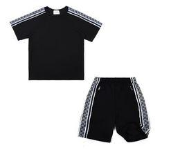 American Men Tracksuits UK - Sport suits Set Men women Suits Summer 2PC Set Mens Stand Collar Fashion 2 Pieces T-shirt Shorts Tracksuit