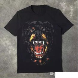 $enCountryForm.capitalKeyWord UK - Wholesale New Fashion Rottweiler dog print High quality O-neck Black tee t shirts for men women cotton free shipping