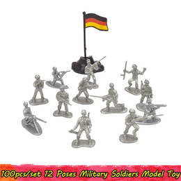 action figures packs Canada - 100pcs Pack Military Plastic Action Figure Soldiers Toy Army Action Figures Model 12 Poses Collection Educational Toys for Boys Kids