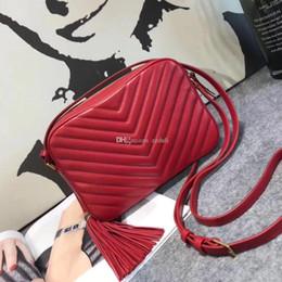 $enCountryForm.capitalKeyWord NZ - 23cm V grid Camera 57700-1 Bag Cross Body Totes 57700 luxury handbags women bags designer famous brands cow leather Tassel quality