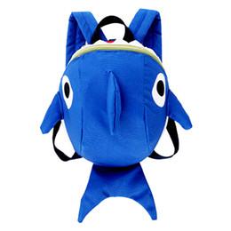$enCountryForm.capitalKeyWord Australia - Cute Kindergarten Girl Boy Backpack Kids Cartoon Embroidery Shark School Bag Anti-lost Toddler Toy Bags Children Animal Backpack