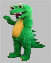 Wholesale adult size dragon costume for sale – halloween 2019GREEN DINOSAUR DRAGON MASCOT COSTUME ADULT SIZE CARTOON