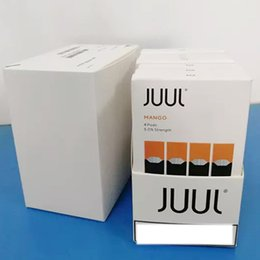 DHl Pods Novo Pacote Clone 8 sabores mango creme para vaporizador vape caneta kit 4 vagens em um pacote cartucho recarregável venda por atacado