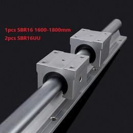 Linear Rail Cnc Australia - 1pcs SBR16 1600mm 1700mm 1800mm support rail linear guide + 2pcs SBR16UU linear bearing blocks for cnc router