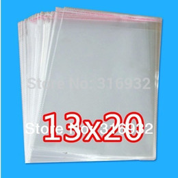 clear transparent seal self adhesive bags UK - Clear Resealable Cellophane BOPP Poly Bags 13*20cm Transparent Opp Bag Packing Plastic Bags Self Adhesive Seal 13*20 cm