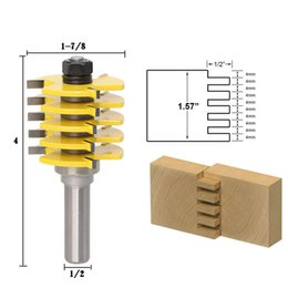 "router drill bits NZ - 1pc Box Joint Router Bit - Adjustable 5 Blade - 3 Flute - 1 2"" Shank For Wood Cutter Tenon Cutter for Woodworking Tools"
