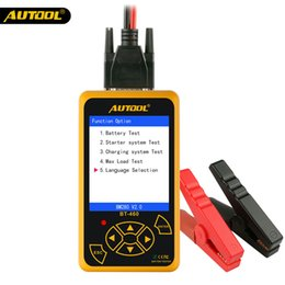 $enCountryForm.capitalKeyWord Australia - 1pcs Free DHL AUTOOL BT-460 Battery Tester Lead-acid AGM GEL Battery Cell Analyzer for 12V Vehicle 24V Heavy Duty