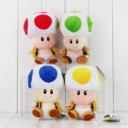 toad toy Canada - Good Super Mario Brothers Mushroom Plush TOAD Plush toy 16cm Yellow,Green,Blue,Red Toad dolls plush toys 4pcs