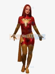 Funny Party Suits Australia - alloween costumes adult funny Jean Grey Phoenix Superhero Costume Halloween Cosplay Party X-Men Costume Fullbody Zentai Suit For Adult Ki...
