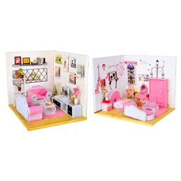 $enCountryForm.capitalKeyWord NZ - 1:24 Scale Pink DIY Miniature Dolls House Furniture Accessory Living Room Bedroom for Girl Birthday Gifts