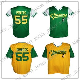 Baseball Power Australia - Cheap Custom Kenny Powers Charros Eastbound And Down Tv Baseball Jersey Yellow Green Stitched college baseball jersey XS-5XL