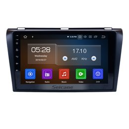 touch video NZ - 9 Inch Multi-touch Capacitive Screen Android 9.0 Car Radio for 2004-2009 Mazda 3 with Bluetooth Music Mirror Link support OBD2 3G car dvd