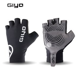 bicycle road cycling gloves UK - Breathable Cycling Gloves Anti Slip Gel Pad Road Bike Short Half Finger Gloves Men Summer Sports Bicycle Mtb Bikes Gloves