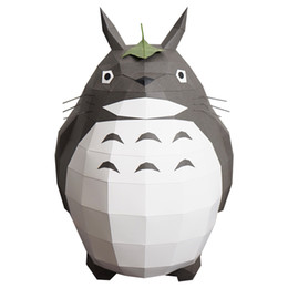 Paper Models UK - Ins Nordic Hayao Miyazaki TOTORO Totoro 3D paper model diy hand made creative home decoration ornaments photography props