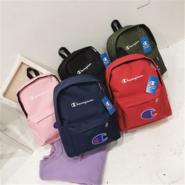 $enCountryForm.capitalKeyWord Australia - Champions Letter Embroidered Backpack Pure Color Backpack Fashion Teenagers Students Schoolbag Street Style Unisex Travel packs FJ532-Z