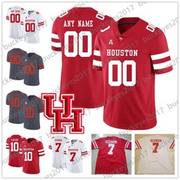 $enCountryForm.capitalKeyWord NZ - Custom Houston Cougars UH College Football #7 Case Keenum 10 Ed Oliver 4 D'Eriq King Stitched Any Number Name Red White Gray Jersey