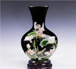 Chinese Unique China Red Color Porcelain Deer Dragon Lotus Flower Pot Vase Bottle Pair Complete Range Of Articles Antiques