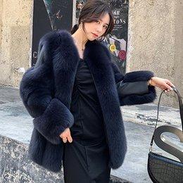 $enCountryForm.capitalKeyWord Australia - CP Faux Fur Short Jacket Women Fashion Long Sleeves Pockets Fur Coat Women Casual Open Stitch Jacket Female Ladies CP130