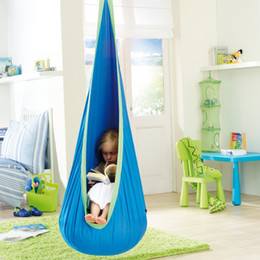 China 8 Colors Children Hammocks Garden Furniture Swing Chair Indoor Outdoor Hanging Seat Kids Swing Seat Nursery Furniture CCA11695-A 1pcs supplier kid swings suppliers