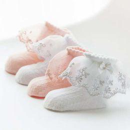 $enCountryForm.capitalKeyWord NZ - Spring Baby Girl Socks Lace Princess Bowknots Soft Cotton Mesh Infant Socks For Newborn Toddler Ankle Meias Sokken