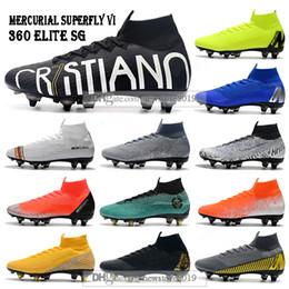 $enCountryForm.capitalKeyWord Australia - New Mens High Ankle Football Boots Superfly 6 Elite SG Soccer Shoes CR7 Mercurial Superfly VI 360 Neymar ACC Soccer Cleats