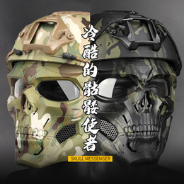 paintball helmet mask 2019 - New Halloween Mask Party Game Skull Fit Fast Helmet Tactical Paintball Mask Cs Protective cheap paintball helmet mask