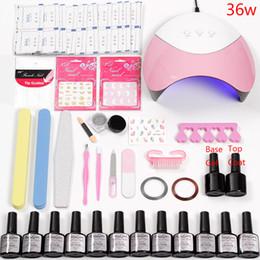 Uv Lamp Kits Australia - Lamp Led Manicure Acrylic Nail Kit Semi-permanent Stay Nails Tools Laser Powder Set Polish Gel Manicure Set 36w Led Uv Lamp