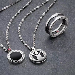 Necklaces Pendants Australia - Luxurious quality S925 Sterling Silver and brand name round with black agate and pink diamond of pendant necklace for women wedding gift j