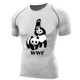 Chair Sleeves Australia - Wwf Wrestling Shirt For Men Compression Shirt Short Sleeve Wwf Panda T Shirt Bodybuilding Tops Base Layer Wwf T-shirt Chair Funy Y19042005