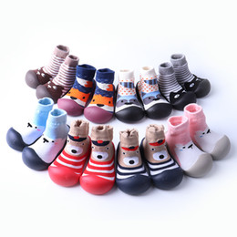 $enCountryForm.capitalKeyWord Australia - Baby rubber soft sole knitted Room Socks Infants Boys Girsl cartoon animal pattern anti-slip rubber sole Floor socks indoor shoes for 0-3T