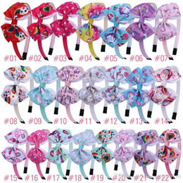 $enCountryForm.capitalKeyWord Australia - 22 Colors Unicorn Baby Headband Girl Bows Baby Cheerleader Cat Ear Headbands Headbands Unicorn Accessories Party Supplies