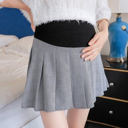 1b0f9d5cba417 New 2019 pregnant women skirt summer tide mother wearing a fashion loose  stomach lift pleated skirt