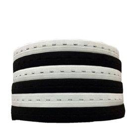 Großhandel 20mm / 2cm DIY Nähzubehör Knopf Loch Strickgummibänder Band Band Weiß / Schwarz Draht Gurtband