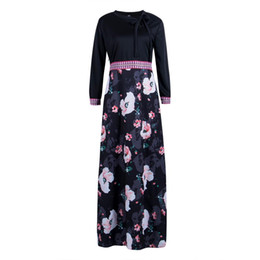 China Women Ladies Floral Chiffon Long Sleeve Spring Party VintageBoho Maxi Dress HOT cheap ladies maxi dresses hot suppliers