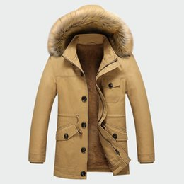 Mens Black Parkas Australia - Winter Men's Thick Coats Warm Male Jackets Padded Casual Hooded Thermal Parka New Men Overcoats Mens Brand Clothing M-5xl Ml071 T190618