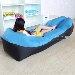 Gas furniture online shopping - Gas Lazy Sofa Air Furniture Bed Outdoor Settee Sunshine Beach Park Blue Patchwork Soft Blue Patchwork lzf1