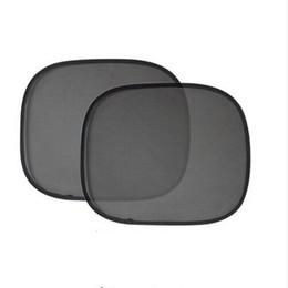 Rear Sun Visor UK - New arrival 2Pcs Lot 44*36cm Black Car Sun Shade Side Rear Window Sunshade Cover Visor Shield Screen Solar Protection