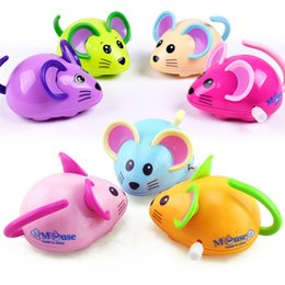 silent mouse NZ - Random Color Education Toy Clockwork Wind Up Cartoon Mouse Toys Kids Early Education Developmental Puzzle Toy wholesale #L5