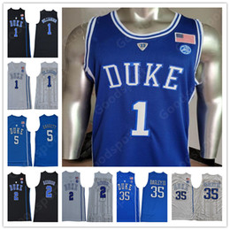4caef33f7 NCAA COLLEGE Stitched Blue Evil DUKE Zion Williamson R.J. Barrett Bagley  III Cam Reddish IRVING ALLEN INGRAM PARKER SHIRTS Jerseys 2019