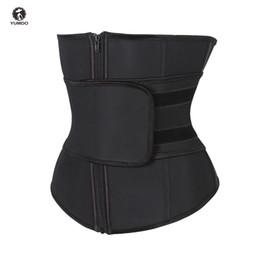 205a62f09eb Abdominal Belt High Compression Zipper Plus Size Latex Waist Cincher Corset  Underbust Body Fajas Sweat Waist Trainer Corsets