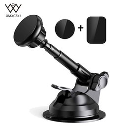 Wholesale Car Phone Holder Magnetic Car Windshield Dashboard Mount Long Arm Stand For Iphone Xs Mas X Universal Mobile Phone Holder T190625